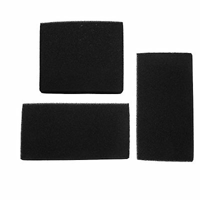 Uxcell Rectangle Aquarium Fresh Water Filter Sponges, 50 by 32 by 4cm, Black