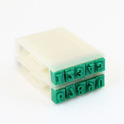 Off White Green Plastic Rubber 0-9 Digits Detachable Number Stamp BF