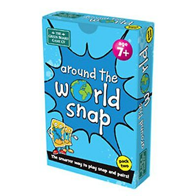 Around the World (Pack 2) Snap + Pairs Card Game - BrainBox - Geography Resource