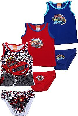 Blaze and the Monster Machines Boys Kids 3pk Vest and Pants Set By BestTrend