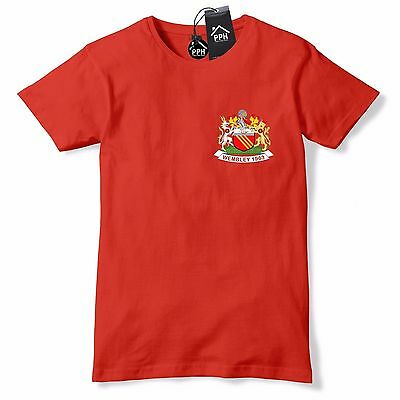 Retro Football 1963 Wembley Manchester United T Shirt United shirt Red 586