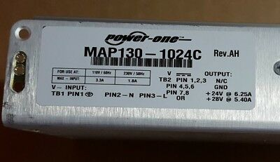 Power One MAP130-1024C Switch mode Power Supply 24V 130W