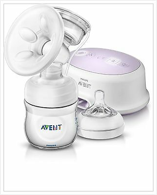 NEW!!Philips AVENT Single Electric Comfort Breast Pump Compact Lighweight Design