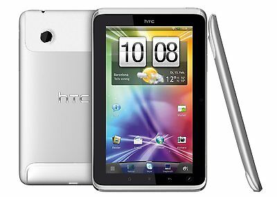 HTC Flyer P512 White Silver 16GB WIFI Android Tablet Weiß Silber