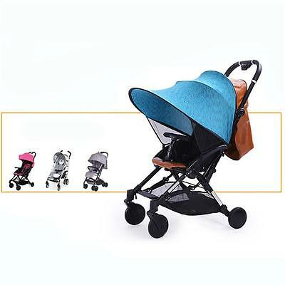 Universal Sun Canopy Ray Shade Blue For Baby Buggy/Pushchair/Pram/Stroller N7