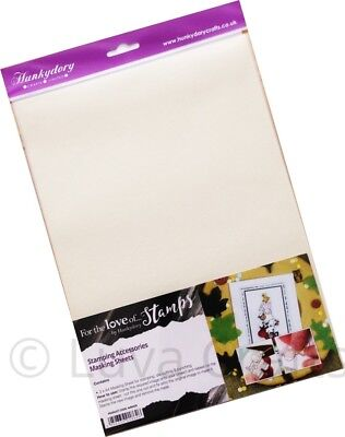 Hunkydory For the Love of Stamps Low Tack Stamping Masking  A4 Sheet - Pack of 3