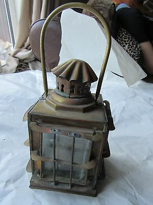 Stunning Antique Ship Lamp Hanging Copper Nautical Light Paraffin Lantern