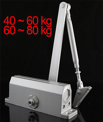 40~80KG Adjustable Speed Fire Rated Overhead Door Closer Soft Close Silver UK