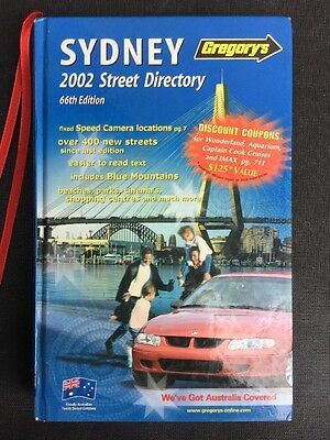 Gregory's SYDNEY Street Directory 2002 66th Edition Free Post Australia wide