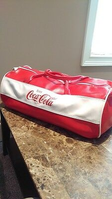 Coca-Cola Leather Duffle Bag Vintage