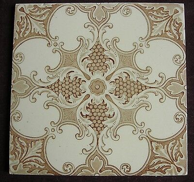 """Perfect Victorian 6"""" transfer printed tile c1890"""