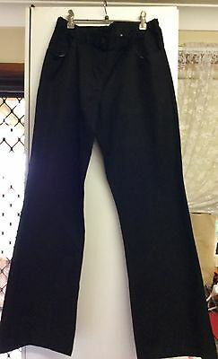 Maternity stretch  Black  jeans elastic waist pull oN size 14