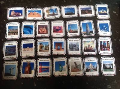 landmarks places of interest display flashcards teaching about the world x 27