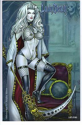 Lady Death Oblivion Kiss #1 Naughty Edition Ltd 200 Monte Moore Variant #187/200