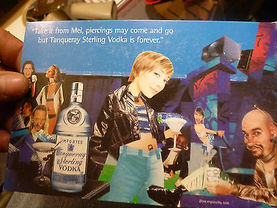 Vintage Tanqueray Sterling Vodka Advertisement Postcard Never Used