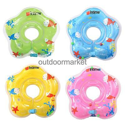 Inflatable Neck Ring Float Padding Pool Bathtub Circle for 1-24 Months Baby