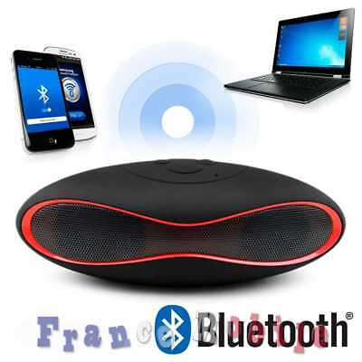 Enceinte Haut Parleur Bluetooth Speaker USB MP3 Radio FM Micro SD Noir et Rouge
