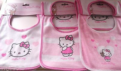 "LOT DE 3 BAVOIRS ""HELLO KITTY"" (33.5 x 21.5cm) NEUF"