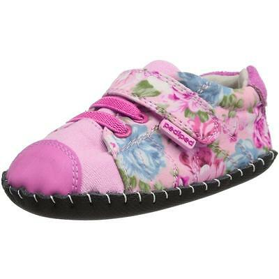 Pediped Originals Jake Rosa Floral Textil Plantas Del Pie Suaves Zapatos