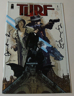 SIGNED Turf by Jonathan Ross & Tommy Lee Edwards Issue #1 COMIC BOOK New RARE