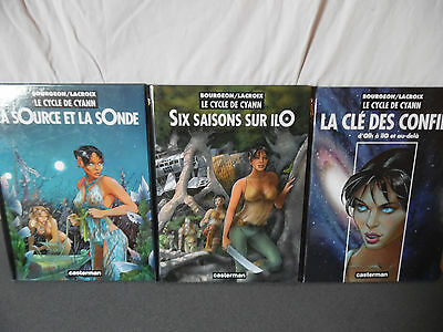"Lot 3 BD ""Le Cycle de Cyann"" Bourgeon / Lacroix Casterman EO Tome 1 et 2 + HS"