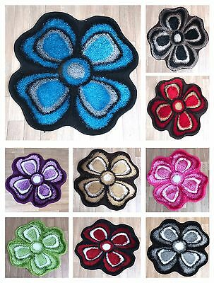 Flower Shape Girls Room Floor Mat Carpet Rug 80 x 80 cm