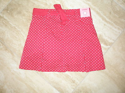 NEW GYMBOREE  RED  White Polka  DOT RED Girl Skort Skirt NWT Size 9