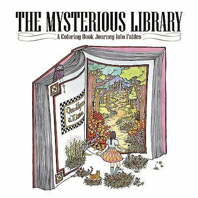 thing creative*de MALBUCH für ERWACHSENE The Mysterious Library: A Coloring Book