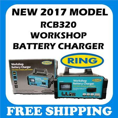 RING RCB320 20 Amp Workshop Fast Auto Battery Charger Engine Jump Starter 12v