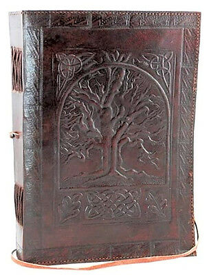 Leather Antique Book Cover Vintage Blank Book Diary Journal 200 Pages Premium