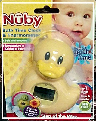 Nuby Safe And Accurate Bath Time Clock And Thermometer