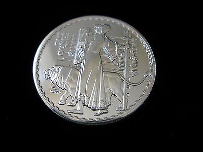 2001 Britannia 2 Pounds 1 Oz Fine Silver BU coin; Gorgeous !