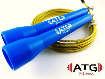 Adjustable Speed Jump Rope - BLUE/GOLD-10ft. 3M WOD - Boxing Fitness