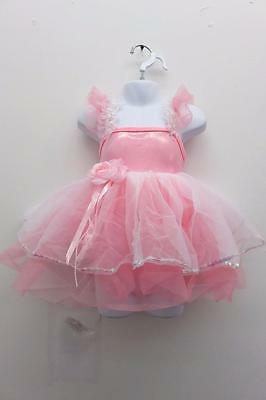 Dance Costume Extra Small Child Pink Tutu Dress Duet Solo Competition Pageant