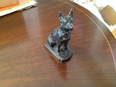 Metal German Shepherd Bookend