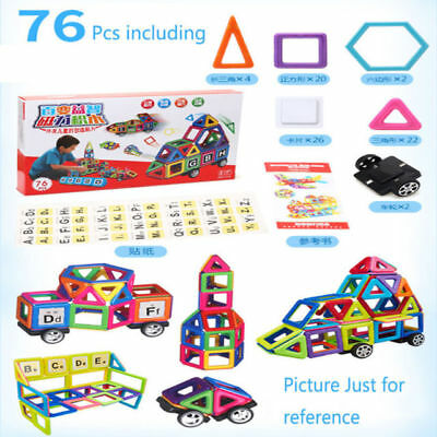 76pcs 3D Magnetic DIY Building Blocks Educational Kids Toys Similar Magformers
