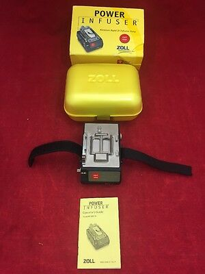 ZOLL Power Infuser Miniature Rapid IV Infusion Pump M100B-3A 8700-0600-01 w/Case