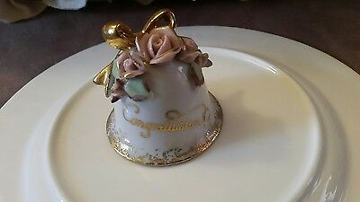 VINTAGE LEFTERIS JAPAN CONGRATULATIONS  Little Bell 1956 SIGNED AND STAMPED