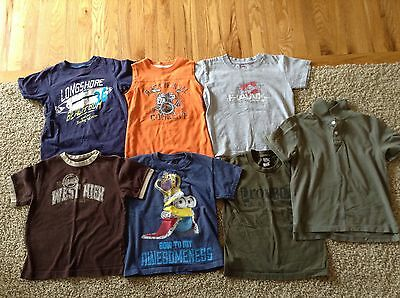 Lot of 7 boys size 5/6 short sleeve shirts (pre owned)
