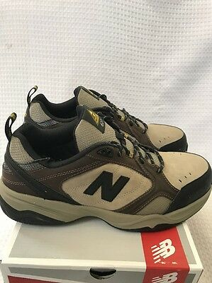 NEW BALANCE 627 men work shoe steel toe slip resistant Size 9.5 2E Wide