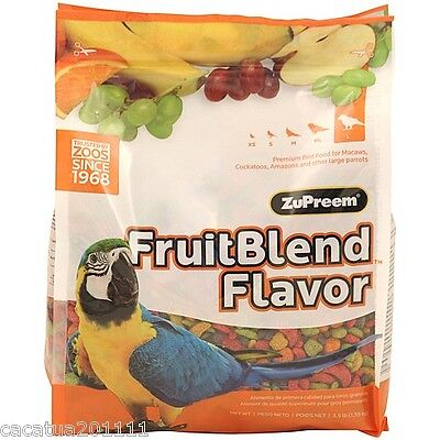 Zupreem Fruit Blend Complete Food For Macaws, Cockatoos, Amazons 1.59Kg (3.5.lb)