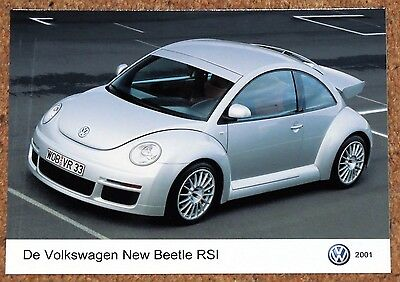 2001 New VW BEETLE RSI Original PRESS PHOTO - 3.2 VR6 Limited Edition Model