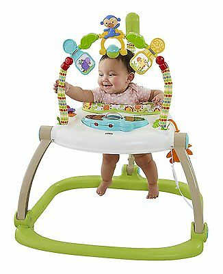 NEW Fisher-Price Rainforest Spacesaver Jumperoo Light Sound & Music  - 3 TOYS