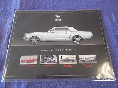 Ford Mustang 50th Anniversary sealed package of 8 collectible hero cards