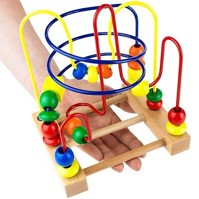 New Game Toy Wooden Maze Baby Toddler Development Fun Laugh Play Boys Girls
