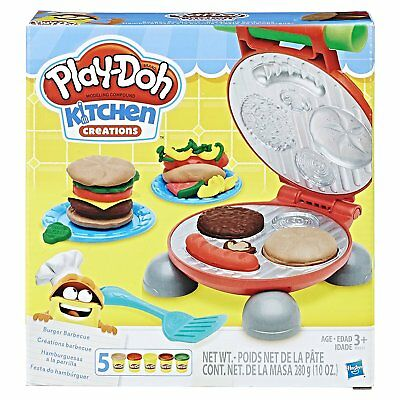 New Burger Barbecue Set Toy Learning Baby Toddler Kids Boys Girls Fun Play