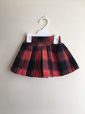 Next Baby Girls Skirt 9-12 Months Tartan