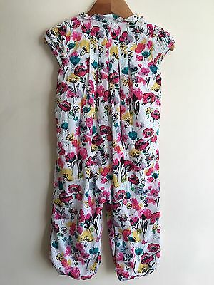 M&S Baby Girls All In One Baby Grown Playsuit Size 12-18 Months Spring/ Summer