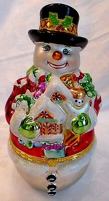 Christopher Radko by Galerie Snowy Sweets hinged candy jar