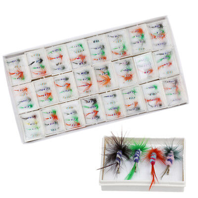 96Pcs/lot Assortment Dry Fly Fishing Flies Fishing Lures Hook for Trout Bass